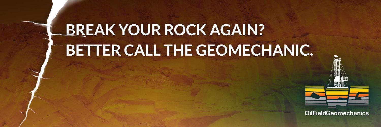 Break your rock again? Better call the Geomechanic - OFG